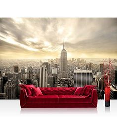 Photo wallpaper  Skylines USA New York  1574W by 1102H 400x280cm  Nonwoven PREMIUM PLUS  MANHATTAN SKYLINE VIEW  Wall Decor Photo Wall Mural Door Wall Paper Posters  Prints * More info could be found at the image url.