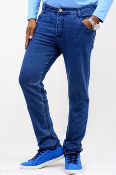 Jeans Trendy Men's Jean Fabric: Denim Pattern: Solid Multipack: 1 Sizes:  26 (Waist Size: 11 in Length Size: 10 in) Country of Origin: India Sizes Available: 30, 32, 34, 36, 38, 40   Catalog Rating: ★3.9 (1743)  Catalog Name: Trendy Men's Jeans CatalogID_1068750 C69-SC1211 Code: 315-6704304-5721