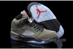 the best attitude 05699 60966 Find Nike Air Jordan 5 Mens Fire Red Medium Olive Black Suede Shoes New  online or in Footlocker. Shop Top Brands and the latest styles Nike Air  Jordan 5 ...