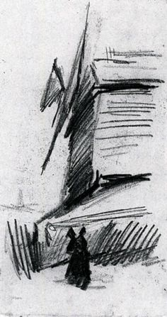 Windmill at Montmartre, 1886-Vincent van Gogh