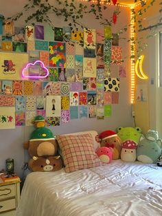 Indie Bedroom, Indie Room Decor, Cute Bedroom Decor, Room Design Bedroom, Room Ideas Bedroom, Bedroom Inspo, Deco Dyi, Room Ideias, Chambre Indie