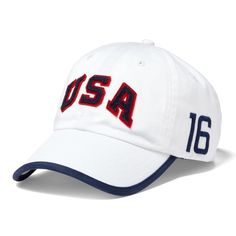 2535d8c5c79 Men s Polo Ralph Lauren White Team USA 2016 Olympics Cross Sport Adjustable  Hat