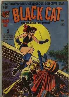Black Cat Halloween comic book