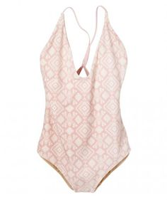 Soft and strong, this cotton candy-and-cream one-piece's deep V is a sexy alternative to a skimpy bikini. Inexpensive, sure, but its durable tricot stitching means you'll have this suit for many summers to come.