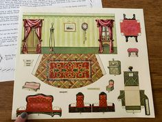 McLoughlin Brothers Paper Dining Room - Elspeth 1978 | eBay Barbie Paper Dolls, Vintage Paper Dolls, Paper Doll House, Sleeping Beauty Castle, Little Bo Peep, Hobby House, Children's Picture Books, Shoe Box, Book Activities