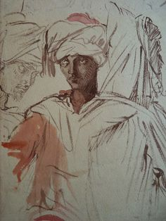 CHASSERIAU Théodore,1846 - Arabes - drawing - Détail 13