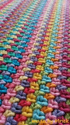 Each row is a different stitch