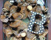 Leopard Whimsical Deco Mesh Wreath