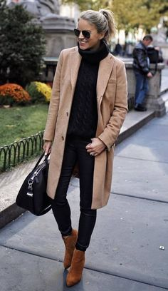 Winter Outfits That Are Cute And Comfortable - Diane P. - - Winter Outfits That Are Cute And Comfortable best+fall+outfit+to+copy+right+now - Black Women Fashion, Look Fashion, Womens Fashion, Fashion Trends, Fall Fashion, Trendy Fashion, Cheap Fashion, Affordable Fashion, Fall Winter Outfits