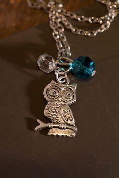 Owl Pendant . Small & Cute . Gift for her . by WhiteLilyDesign