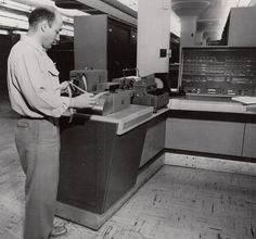 A Census Bureau employee uses a Ferranti Tape Reader in the 1960s to communicate with one of our #UNIVAC 1105 computers. Learn more here: http://www.census.gov/history/www/innovations/technology/univac_i.html