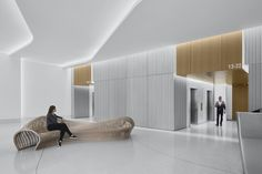 301 Howard Street Lobby by Huntsman Architectural Group Corporate Interiors, Corporate Design, Office Interiors, Interior Office, Office Building Lobby, Office Lobby, Interior Design Magazine, Modern Interior Design, Lobby Interior
