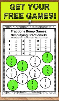 best 25 simplifying fractions ideas on pinterest simplify math math fractions and equivalent. Black Bedroom Furniture Sets. Home Design Ideas