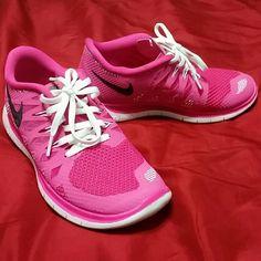 Nike free Nike size 5.5Y PINK 7/7.5 in women's Nike Shoes Sneakers