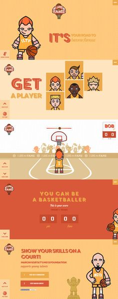 'I Love This Fame' is an interactive basketball game within a One Page website. The illustrations are awesome and the user experience is excellent. Best off all it's also a marketing exercise to promote Marcin Gortat's non-profit foundation to encourage basketball among children. Kudos.