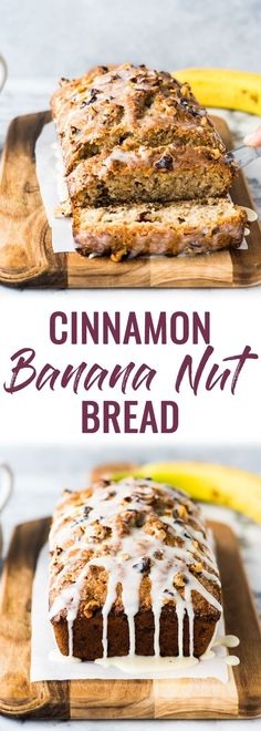 This Cinnamon Banana Nut Bread recipe is easy to make and creates a moist and delicious loaf that's perfect for breakfast or dessert. The best banana bread made with walnuts! via Isabel Eats {Easy Mexican Recipes} Cinnamon Recipes, Easy Bread Recipes, Banana Bread Recipes, Cinnamon Banana Bread, Best Banana Bread, Banana Walnut Bread Healthy, Apple Bread, Fudge, Walnut Bread Recipe
