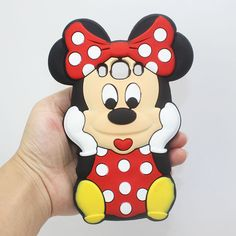Cute 3D Minnie Mouse Silicone Case for Samsung Galaxy J5 2016 Case Silicone Cover J510 Back Cover Case Coque Fundas