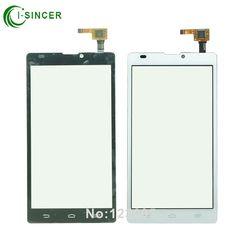 1/PCS Noir Blanc Pour ZTE Blade L2 Écran Tactile Digitizer en verre avec flex câble pièces De Rechange Mobile Téléphone Tactile Panneau
