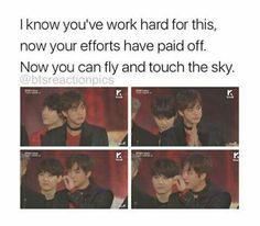 Yes, baby, fly and touch the sky, baby #BTS1stDaesang