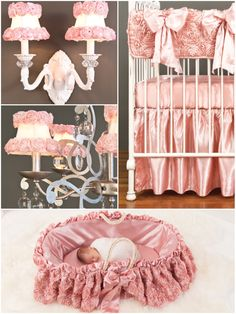 when you crave pink roses for you baby girls nursery. #nursery #baby #girl #crib #bedding #brattdecor