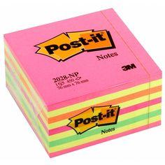 Post-it notes kubus neonroze 76 x 76 mm | Deze 3M Post-it notes kubus bevat in totaal 450 vierkante post its met een formaat van 76 x 76 mm. Deze memoblaadjes in neon roze en bijpassende tinten vallen overal op, zodat genoteerde telefoonnummers, afspraken en herinneringen niet vergeten worden. De zelfklevende notitieblaadjes kunnen eenvoudig verwijderd en verplaatst worden.