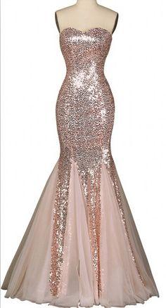 Sequinned Floor Length Tulle Mermaid Evening Dress Featuring