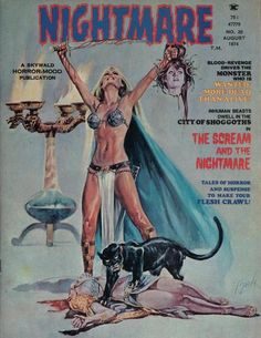 Cover for Nightmare (Skywald, 1970 series) Pulp Fiction Art, Horror Fiction, Fiction Movies, Pulp Art, Science Fiction, Bd Comics, Horror Comics, Comic Book Covers, Comic Books