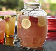 Shatterproof! Ideal for outdoor parties.    Barrel Outdoor Drink Dispenser | Pottery Barn