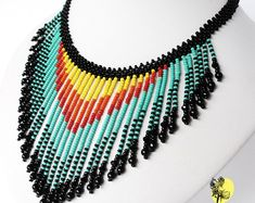 Items similar to White blue turquoise Seed bead necklace Fringe necklace for women Wedding necklace Beaded jewelry Christmas in July on Etsy Colar de casamento azul branco Colar de presente de dama de honra nupcial Indian Women Tattoo, Native Indian Tattoos, Native Indian Jewelry, Indian Necklace, American Indian Jewelry, Tribal Necklace, Turquoise Necklace, Fringe Necklace, Seed Bead Necklace