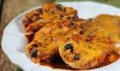 Skinny Chicken Enchilada Stuffed Pasta Shells – Fresh Family Recipes