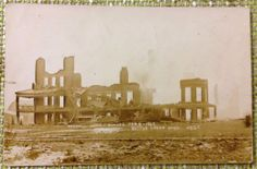 MI Battle Creek Michigan; Haskell Home Disaster; Burned & Postmark 1909; RPPC