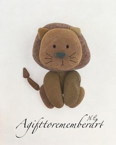 "55 Likes, 5 Comments - Neshat Ghaffari (@agifttorememberart) on Instagram: """"Little lion"" kids collection #agifttorememberart #pebbleart #pebble #art #handmade #unique #etsy…"""