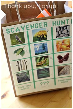 Fantastic Scavenger Hunt Idea- one of my favorite parties as a kid:) Fun Games, Party Games, Games For Kids, Summer Activities, Craft Activities, Community Activities, Nature Activities, Toddler Activities, Picture Scavenger Hunts