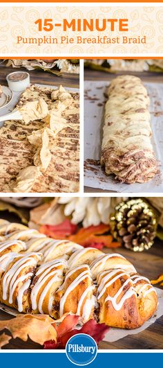 This Pumpkin Pie Breakfast Braid is the easiest, prettiest, and tastiest breakfast pastry to make for a special holiday treat. Pumpkin Recipes, Fall Recipes, Sweet Recipes, Holiday Recipes, Breakfast Bake, Breakfast Recipes, Dessert Recipes, Brunch Recipes, Muffins