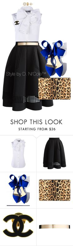 """Untitled #3291"" by stylebydnicole ❤ liked on Polyvore featuring Moschino, Chicwish, Aminah Abdul Jillil, Givenchy, Chanel and ASOS"
