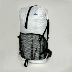 """Named """"Best Ultralight Pack"""" by Backpacker Magazine! The Windrider 2400 Pack by Hyperlite Mountain Gear is $275.00. 40 liters, 28.2 oz. Perfect for hiking the Appalachian Trail, The Long Trail, or the El Camino de Santiago."""
