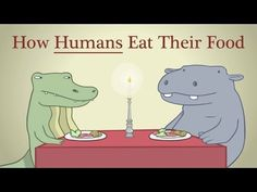 How humans eat their food.