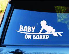 Baby On Board Surfboards Surfboard Surfing Car Truck Window