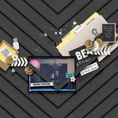Created with Erica Zane's All Work and No Play bundle. Digital Scrapbooking, Play, Create