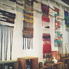 { weaving into being }