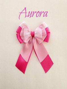 Disney inspired Aurora princess hair bow by BellaRayneDesigns2, $9.50