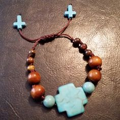Turquoise Cross by GreenePumpkins on Etsy