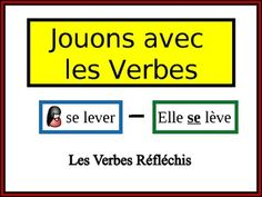 French Verb Form Writing Practice Activity: Reflexive Verbs