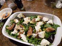 fig salad with greek oxymeli