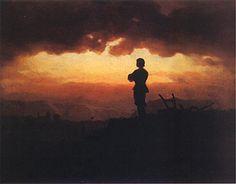 Evening Prayer of a Farmer - Artur Grottger Famous Art Pieces, Evening Prayer, Prince, Art Graphique, Environmental Art, Daydream, Moonlight, Farmer, Twilight