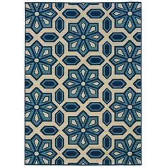 Oriental Weavers Sphinx Caspian Ivory / Blue Indoor / Outdoor Rug