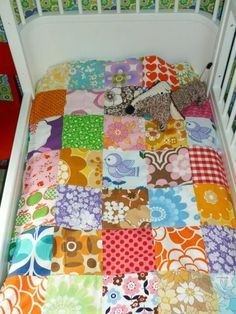 patchwork quilt.  K.  now I have to do this for ev.  Maybe when she transitions to a bed.
