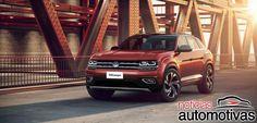 Projeção Volkswagen Atlas Cross Sport e Tanoak Pickup em versões de produção