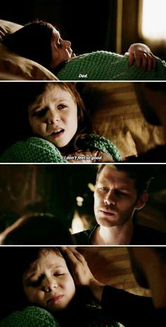 """#TheOriginals 4x04 """"Keepers Of The House"""" - """"Dad. I don't feel so good."""" - #KlausMikaelson #HopeMikaelson"""
