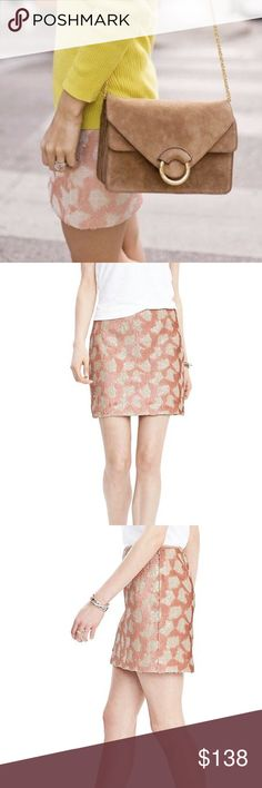 FINAL PRICE | Blush Geometric Sequin Mini Skirt Banana Republic Blush Sequin Mini Skirt | Geo Print Sequin Pencil Skirt  Banded waist Concealed side zipper Geo print Contrasting sequins Fully lined  Shell: 100% polyester Lining: 100% polyester Dry clean only Banana Republic Skirts Mini